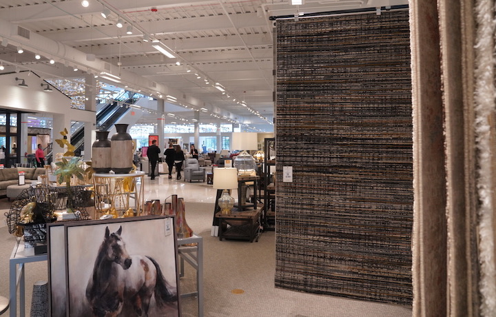 shot of home accessories and rugs