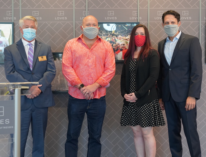 image of executives with masks