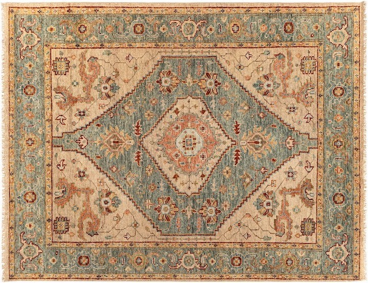 classic medallion rug in updated colors