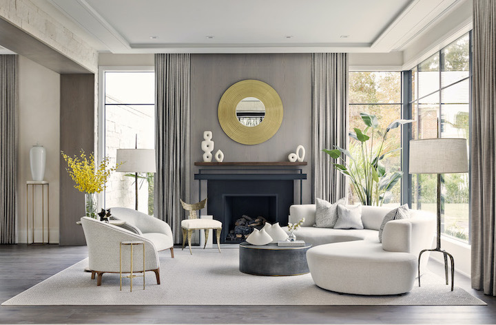 luxury contemporary living room