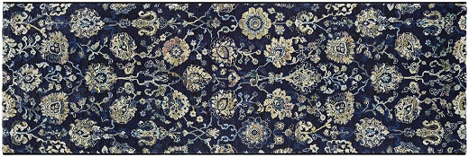 image of classic floral rug runner