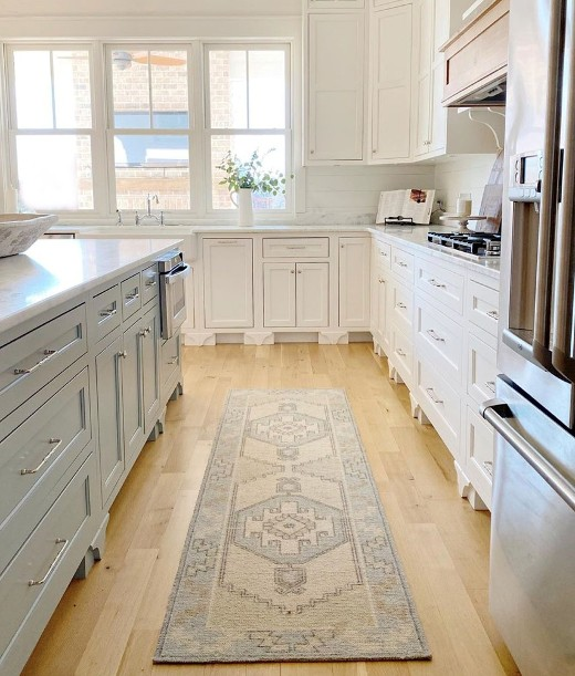 image of classic design rug runner in kitchen