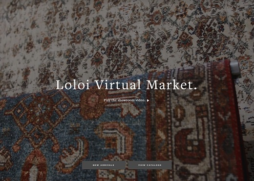 Graphic of Loloi Rugs' Virtual Market