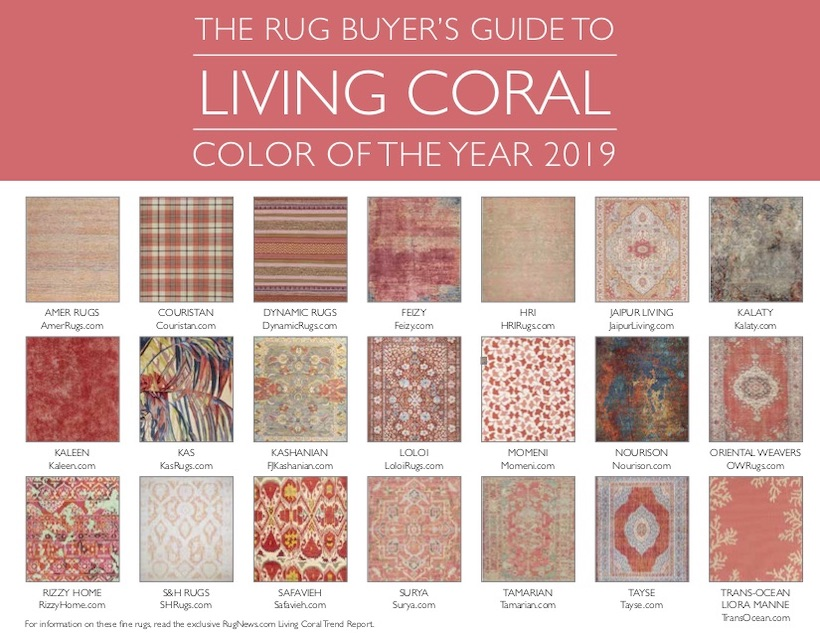 Rug Makers Dive into Pantone's Living Coral Color of the Year, Part 2