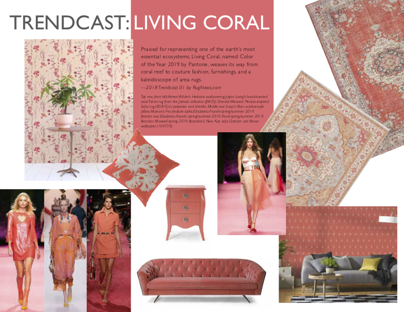 Rug Makers Dive into Pantone's Living Coral Color of the Year, Part 1