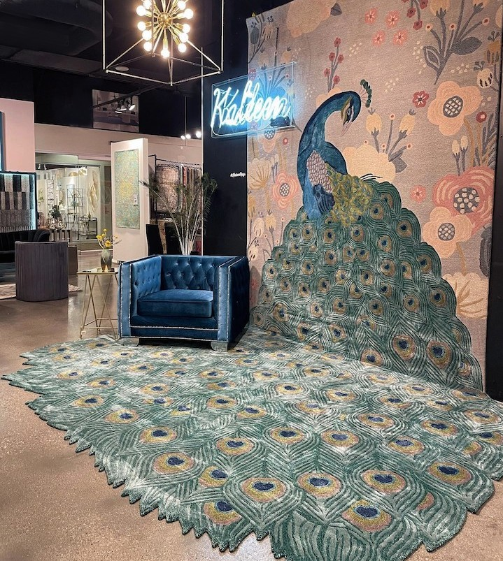 Kaleen Debuts LUXE Rug & Broadloom Program, Showcases Eye-Catching Peacock Design