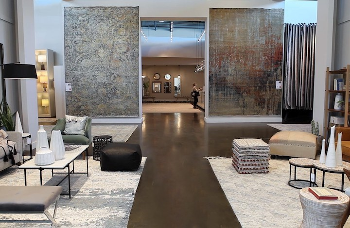 area rug showroom displays