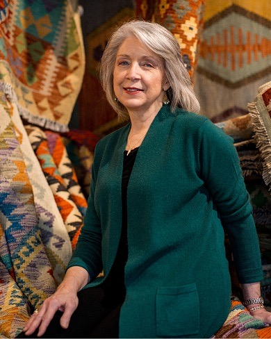 Miriam Thompson Founder of The Rug Rack Celebrates 20th Anniversary