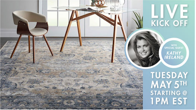 picture of Kathy Ireland and new rug