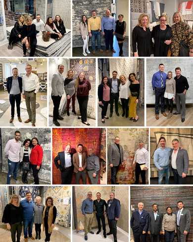 montage of designer and retail buyers