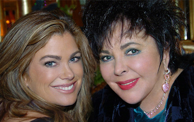 picture of Kathy Ireland and Elizabeth Taylor